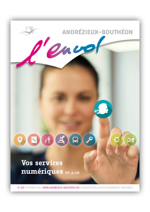 Couverture du bulletin municipal d'Andrézieux-Bouthéon d'octobre 2018